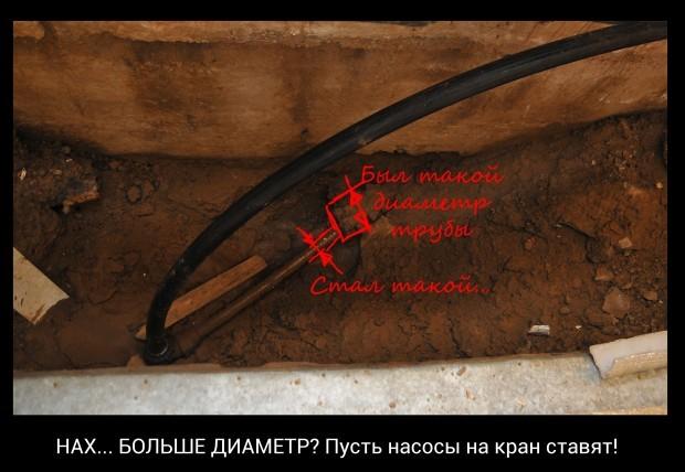 Трубы в подвале на Кабакова 73