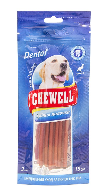 CHEWELL лакомство для собак всех пород Дентал утка, 3 шт.