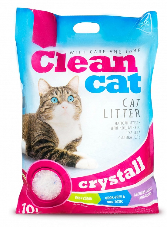 Clean Cat наполнитель для кошачьего туалета силикагель 10 л