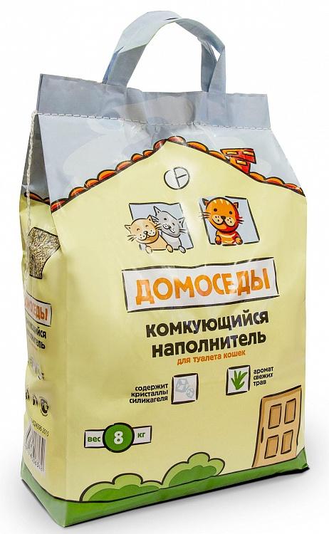 Домоседы наполнитель для кошачьего туалета комкующийся 8 кг