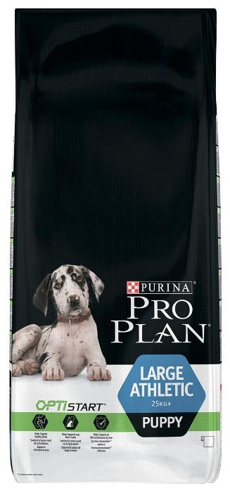 Pro Plan Large Athletic сухой корм для щенков крупных пород, курица/рис 12 кг