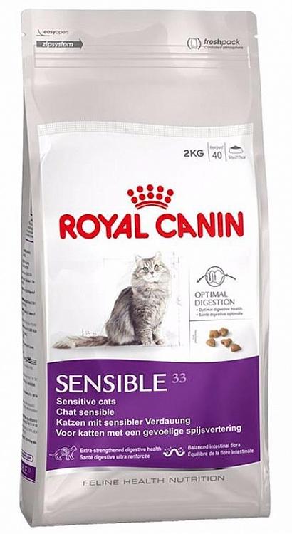 Royal Canin Sensible 33 сухой корм для кошек при чувствительном пищеварении 15 кг