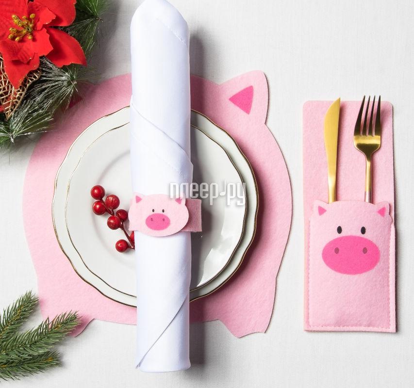 Набор для сервировки Доляна Свинка 3285098