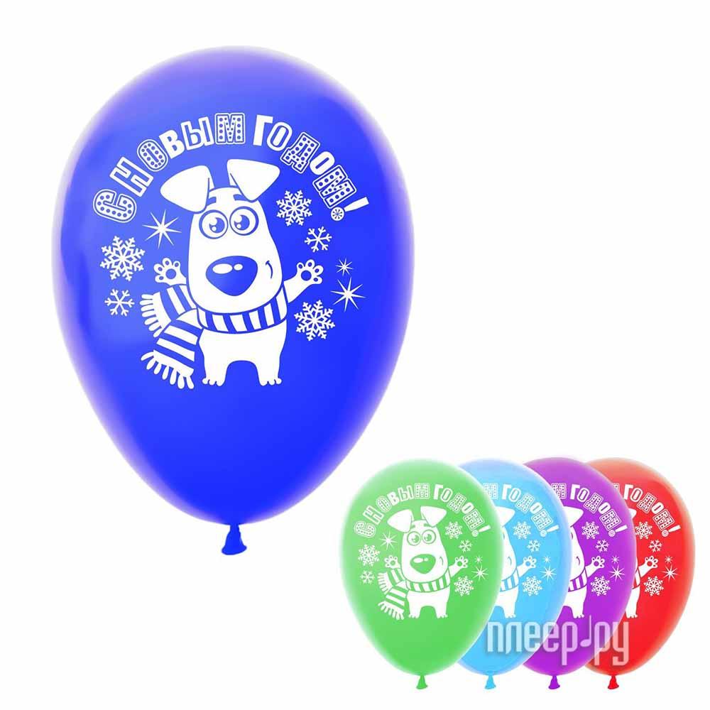 Набор воздушных шаров Страна Карнавалия С Новым годом 5шт 2709916